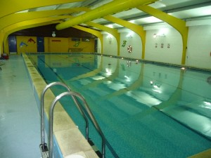 Interior of pool at Hilltop Primary School, Strood Rochester