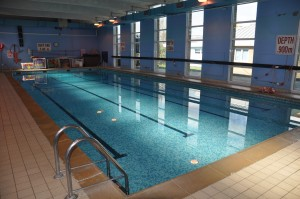 Interior of Essex pool with Angela's Swim School