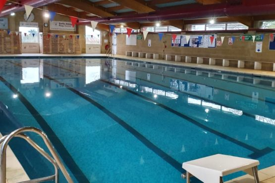 Swimming pool at Battle Abbey Prep School used by Angela's Swim School