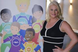 Swim school founder Angela Wilson introduces the Swimstyler characters
